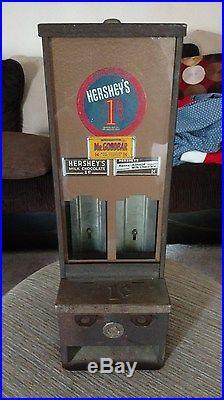 Shipman 1 Cent Hershey Candy Bar Vending Machine Vintage