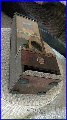 SHIPMAN 1 CENT Hershey CANDY BAR VENDING MACHINE VINTAGE Dispenser ANTIQUE 1930s