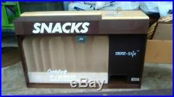 SNAK-STIX Vending Machine Vintage 1986 COUNTER TOP CANDY DISPENSER