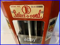 Select-O-Vend, Vintage Penny Candy and Gum Machine circa 1940's, Includes Key