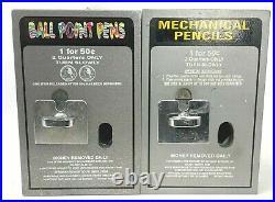 Set of 2 Vintage School Mechanical Pencil Ball Point Pen Vending Machines