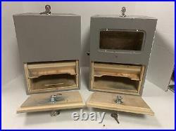 Set of 2 Vintage School Pencil & Mechanical Pencil Or Pen Vending Machines -Nice