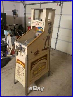 Silver Dollar Saloon Skill Shooter Vintage Vending Machine Coin Operated Gumball