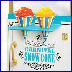 Snow Cone Cart Ice Shaving Vintage Machine Shaved System Maker Shaver Crusher