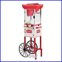 Snow Cone Machine Cart Ice Maker Shaved Vintage Stand Slushy Shaving Retro Red