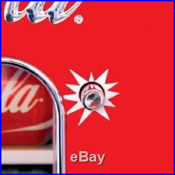 Soda Vending Machine Retro Coca Cola Vintage Mini Fridge 10 Beverage Dispenser