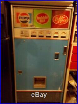 Soda machine cans pepsi dr pepper bubble up vintage vending