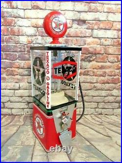 Texaco gas vintage gumball machine candy machine game room accessories bar gift