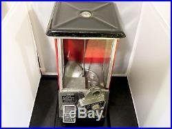 The Master Penny 1 Cent 1920's Vintage Gumball Machine Great Working Condition