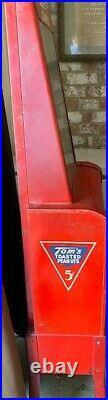 Tom's Vintage Peanut Vending Machine Red 5cent, Circa 1940 UPDATED PHOTOS