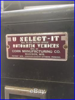 U Select It Vintage Candy Vending Machine Coin Op