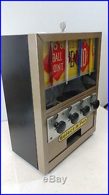 Unbelievable Condition Vintage Select-a-pen Vending Machine 10 Cent Coin Op Key