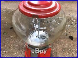 Unusual Shape Antique Vintage Northwestern Porcelain Gumball Machine
