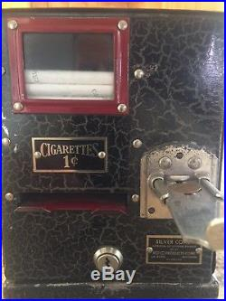 VERY RARE VINTAGE 1930'S CIGARETTE MACHINE This Silver Comet one Cent 1930s