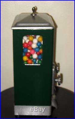 VINTAGE 1930's Lawrence 5 Cent Dual Column Peanut Gumball Vending Machine