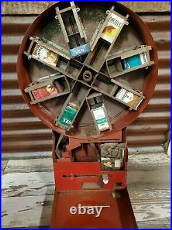 VINTAGE 1940's DIAL A SMOKE CIGARETTE VENDING MACHINE WITH KEY