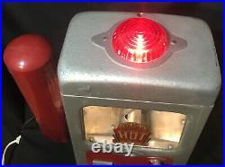 VINTAGE 1940s WHITE MACHINE CO. HOT NUT PEANUT Coin-Op Cup Dispenser ORIGINAL