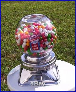 Vintage 1950 H. K. Hart Confections Genuine Gumball Candy Machine Coin Op Penny