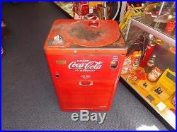 Vintage 1950's Coca Cola Vendo A23 Model Spin Top Soda Pop Vending Machine Work