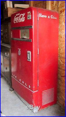 VINTAGE 1950's orig. Vendo 83 Coca Cola Machine All There Untested