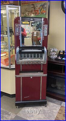 VINTAGE 1950s NATIONAL CIGARETTE MACHINE OLDER RESTO LOOKS GREAT! 7 PULL