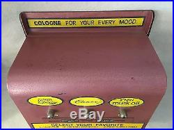 VINTAGE 1960's COIN OPERATED SPRAY COLOGNE DISPENSER / VENDING MACHINE / AS IS