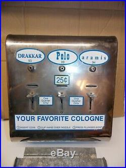VINTAGE 25 CENT PERFUME, COLOGNE VENDING MACHINE. 4 AVAILABLE. Last one