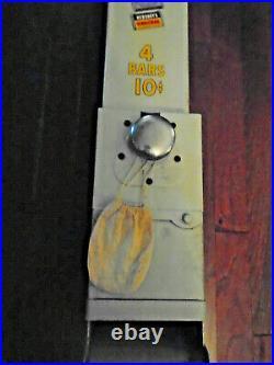 VINTAGE 40's HERSHEY VENDING MACHINE WALL MOUNT WithKEYS