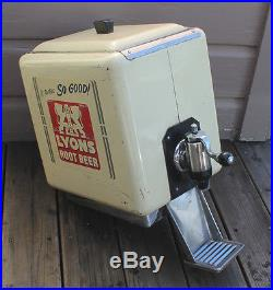 VINTAGE 40s Multiplex Lyons Root Beer Rootbeer Outboard Soda Fountain Dispenser