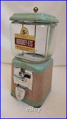 VINTAGE ACORN OAK MFG CO HERSHEY-ETS CANDY VENDING MACHINE TABLE TOP 15 1950's