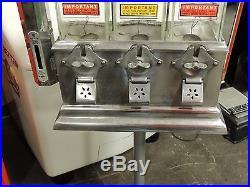 Vintage Antique Ajax Challenger Hot Nut Machine Coin Operated Light Polish! L@@k