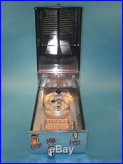Vintage Antique Gum-a-mib Marble And Gumball Vending Machine