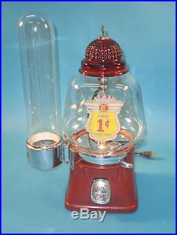 Vintage Antique Silver King Hot Nut Peanut Gumball Vending Machine