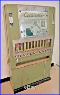 VINTAGE ART DECO NATIONAL CIGARETTE VENDING MACHINE 1940s DELIVERY STL CHI