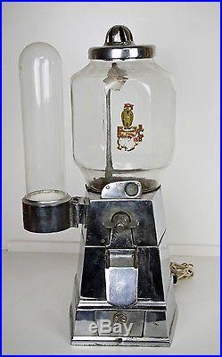 VINTAGE ASCO HOT PEANUT VENDING MACHINE with VORTEX CUP DISPENSER 1946
