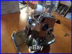 VINTAGE ATLAS BANTAM 1940s 5 CENT NICKEL PEANUT CANDY GUMBALL MACHINE With KEY