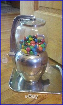 Vintage Atlas Bantam 5 Cent Tray Gum Nut Candy Vending Machine