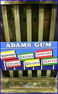 VINTAGE''' Adam's Gum, Chiclets Gum, 1 Cent Dispensing Machine, Clean