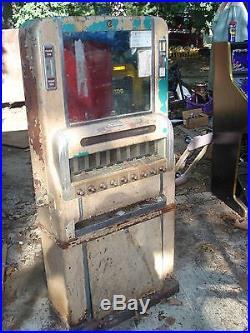 Vintage Cigarette Vending Machine Complete Very Restorable Dirty But No Dents