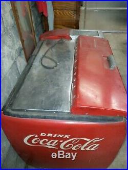 VINTAGE, COCA COLA MACHINE, Cooler, Pepsi, Chest, Antique, Vending, Slider, Vendo