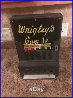 Vintage Coin Operated Wrigleys Gum Vending Machine 1930's Rare