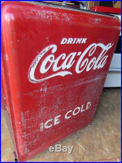 Vintage Coke Machine / Cooler All Original Great Interior