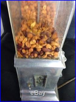 Vintage Deluxe Hot Nut Vendor Machine- Antique Vending Machine-candy, Gum, Nuts