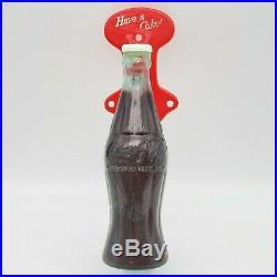 VINTAGE ESTATE 1950s PLASTIC COKE BOTTLE VENDING MACHINE DOOR HANDLE SO NICE