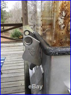VINTAGE GUMBALL PEANUT CANDY VENDING MACHINE- LOG CABIN DUPLEX- No key