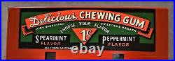VINTAGE JOLLY GOOD INDUSTRIES PENNY GUM MACHINE DELICIOUS CHEWING GUM with2 KEYS