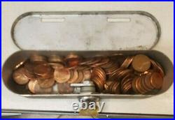 VINTAGE Midget 1 Cent / Penny Coin Operated 1920 Cigarette Vending Machine