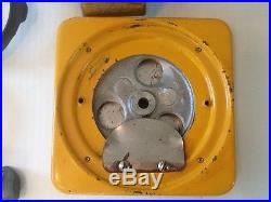Vintage Nickle 5 Cent Gumball Machine Octagon Globe Columbus Lock