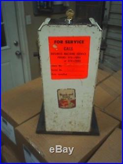 VINTAGE Northwestren US MAIL POSTAGE STAMP DISPENSER Machine 1930 Porcelain