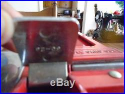 Vintage Premiere Oak 1 Cent Gumball & Baseball Machine, Sold As Is No Returns